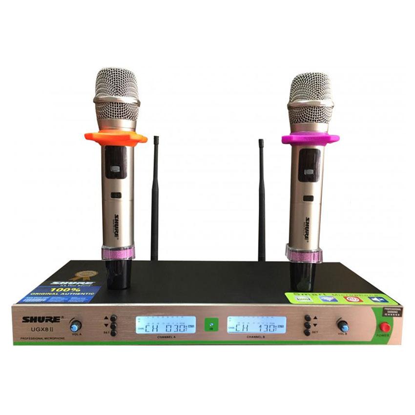 micro karaoke kh ng d y shure ugx 8ii. Black Bedroom Furniture Sets. Home Design Ideas