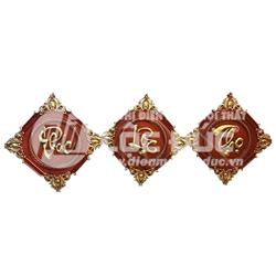 BỘ TRANH CHỮ GỖ HƯƠNG PHÚC LỘC THỌ TC-01GH (ĐH-40X40)
