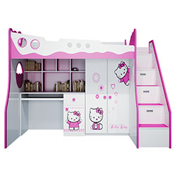 GIƯỜNG TẦNG HELLO KITTY 3 TRONG 1 1.2M GT10