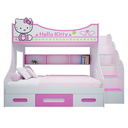 GIƯỜNG TẦNG HELLO KITTY 1.4M GT04-01
