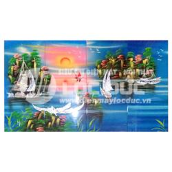 TRANH GHÉP SƠN MÀI CẨN ỐC VỊNH HẠ LONG 0.8 MÉT TSM-25