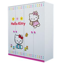 TỦ ÁO GỖ CÔNG NGHIỆP HELLO KITTY F21 1.6 MÉT T04-02
