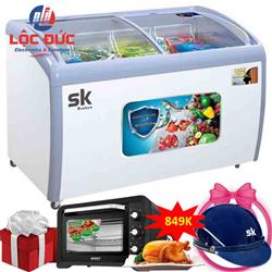 TỦ ĐÔNG TRƯNG BÀY KEM SUMIKURA 500 LÍT SKFS-500C ĐỒNG (R290) (ĐÔNG TRƯNG BÀY KEM)