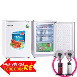TỦ ĐÔNG MINI ĐỨNG HÒA PHÁT FUNIKI 100 LÍT HCF-116S NHÔM (R600A) (4 HỘC)