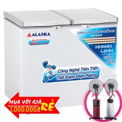 TỦ ĐÔNG MÁT ALASKA 250 LÍT BCD-3068C ĐỒNG (R600A)