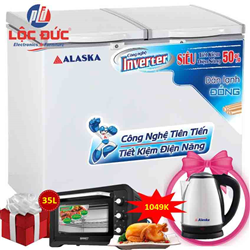TỦ ĐÔNG MÁT INVERTER ALASKA 550 LÍT BCD-5568CI ĐỒNG (R600A)