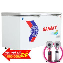 TỦ ĐÔNG MÁT SANAKY 400 LÍT VH-568W2 NHÔM (R600A)