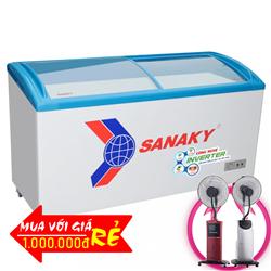 TỦ ĐÔNG CỬA KIẾNG LÙA SANAKY INVERTER 450 LÍT VH-6899K3 ĐỒNG (R134A)