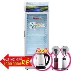 TỦ MÁT 1 CỬA INVERTER SANAKY 210 LÍT VH-259K3 ĐỒNG (R600A)